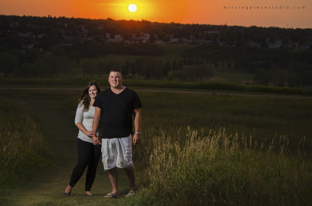 edmonton family photography hike sunset